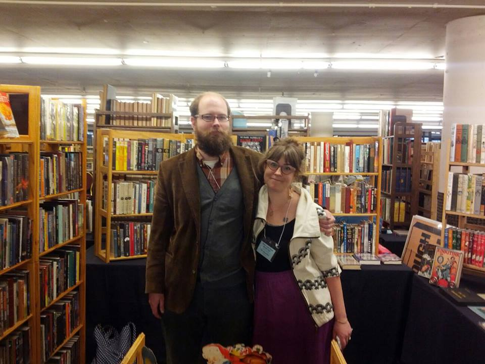 Obadiah and his wife, Katherine, at the Rose City Book Fair